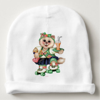 ROLLER CAT CUTE Baby Cotton Beanie Baby Beanie