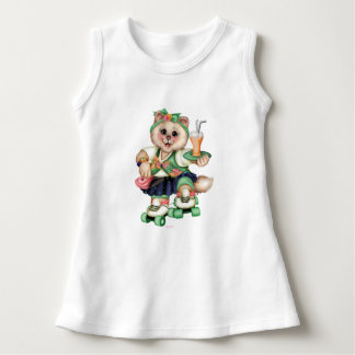 ROLLER CAT CUTE Baby Sleeveless Dress