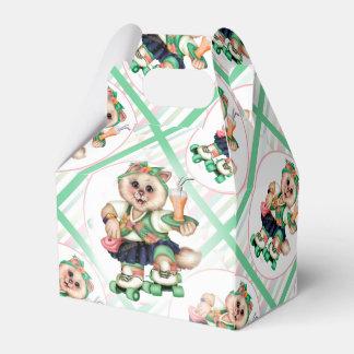 ROLLER CAT CUTE Gable Favor Box