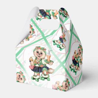 ROLLER CAT CUTE Gable Favour Box