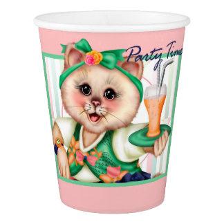 ROLLER CAT CUTE PAPER CUP