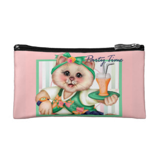 ROLLER CAT CUTE Small Cosmetic Bag