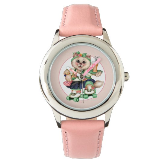 ROLLER CAT Kid's Stainless Steel Strap Watch