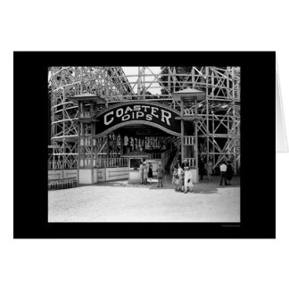 Roller Coaster at Glen Echo Park 1928 Card