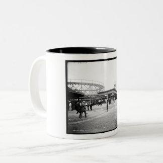 Roller Coaster, Euclid Beach, Cleveland, Ohio Two-Tone Coffee Mug