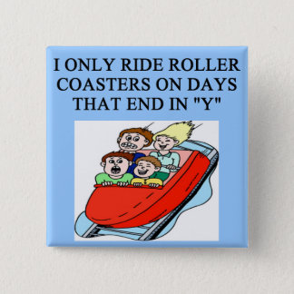 roller coaster fanatic 15 cm square badge