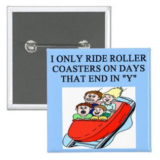 roller coaster fanatic 15 cm square badge