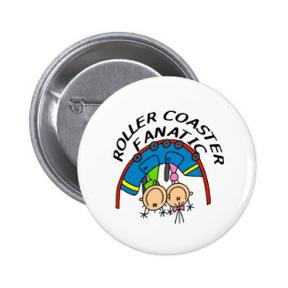 Roller Coaster Fanatic Pinback Buttons