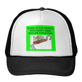 roller coaster fanatic mesh hat