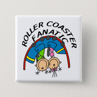 Roller Coaster Fanatic Tshirts and Gifts 15 Cm Square Badge