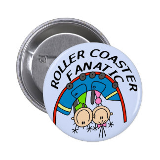 Roller Coaster Fanatic Tshirts and Gifts Buttons