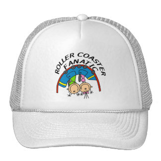 Roller Coaster Fanatic Tshirts and Gifts Mesh Hats