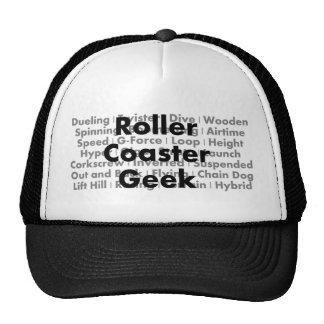 Roller Coaster Geek Trucker Hat