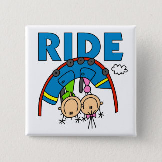 Roller Coaster Ride 15 Cm Square Badge