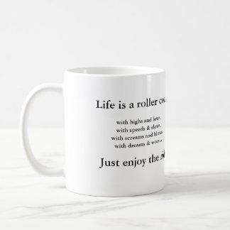 Roller Coaster Ride Classic White Coffee Mug