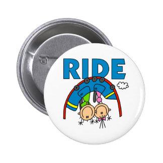 Roller Coaster Ride Pinback Button