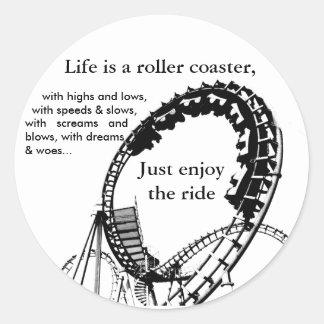 Roller Coaster Ride Round Sticker