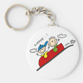 Roller Coaster Ride Tshirts and Gifts Basic Round Button Key Ring