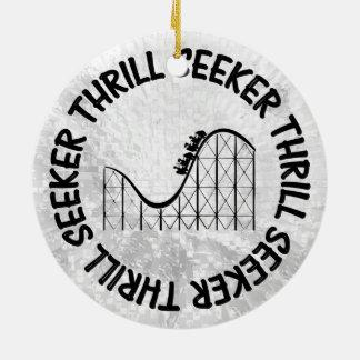 ROLLER COASTER THRILL SEEKER CHRISTMAS ORNAMENT