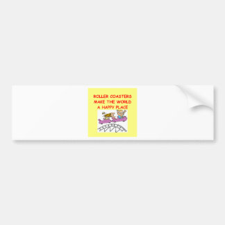 roller coasters bumper sticker