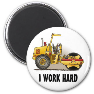 Roller Construction Round Magnet I Work