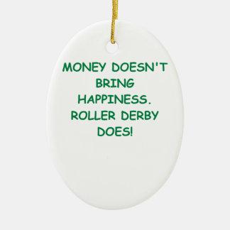 roller derby ceramic oval decoration