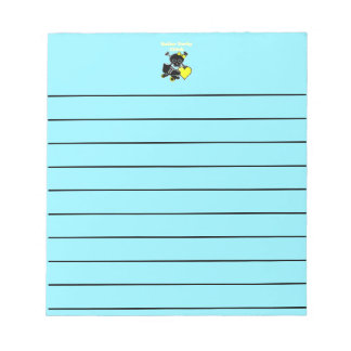 Roller Derby Chick (Yellow) Notepad