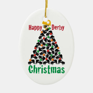 Roller Derby Christmas, Roller Skating Christmas Ornament