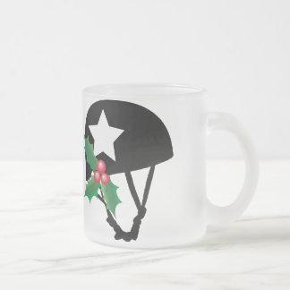 Roller Derby Christmas, Roller Skating Frosted Glass Mug