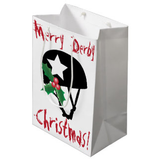 Roller Derby Christmas, Roller Skating Medium Gift Bag