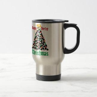 Roller Derby Christmas, Roller Skating Stainless Steel Travel Mug