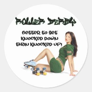 Roller Derby... Classic Round Sticker
