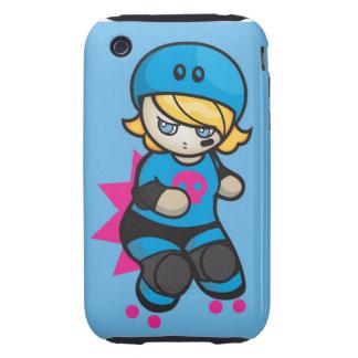 Roller Derby Cute Dinky Blocker Iphone Case Tough iPhone 3 Cases