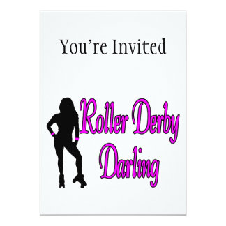 Roller Derby Darling 5x7 Paper Invitation Card