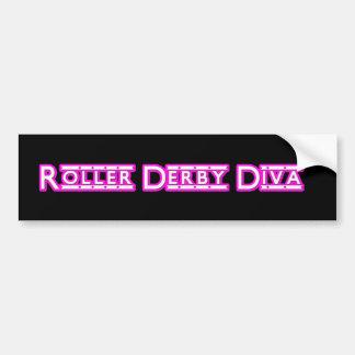 Roller Derby Diva sticker Bumper Sticker