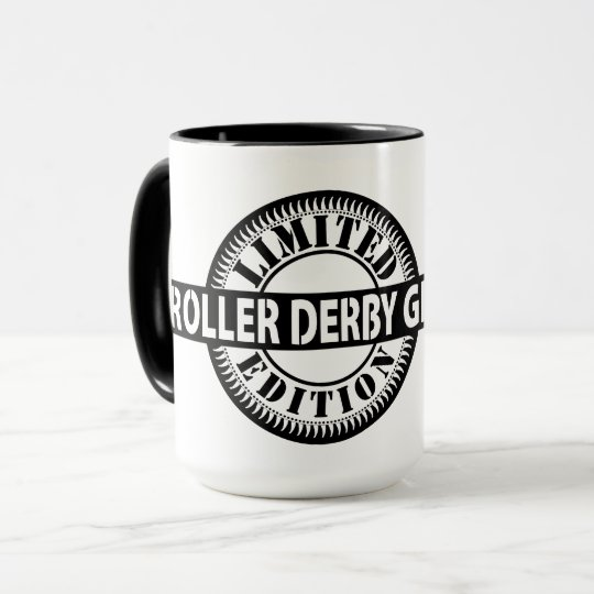Roller Derby Girl Limited Edition, Skating Design Mug