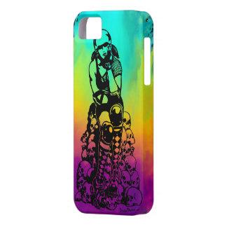 Roller Derby Girl Rainbow iPhone 5 Phone Case
