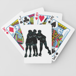Roller Derby Girls Bicycle Playing Cards