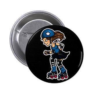 Roller Derby Jammer 6 Cm Round Badge