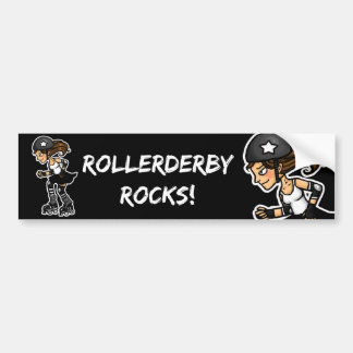 Roller Derby Jammer black and white Bumper Sticker