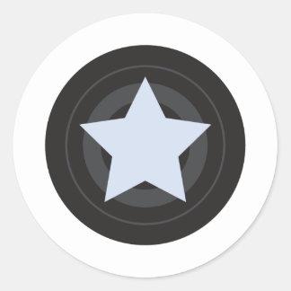 Roller Derby Jammer Classic Round Sticker