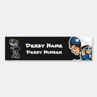 Roller Derby Jammer Customisable Bumper Sticker