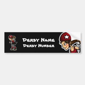 Roller Derby Jammer Customisable Bumper Stickers