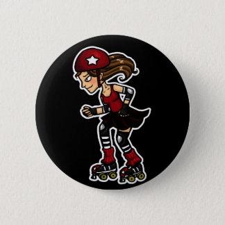 Roller Derby Jammer red 6 Cm Round Badge