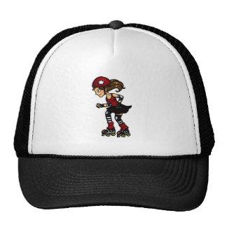 Roller Derby Jammer red Mesh Hats
