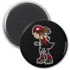 Roller Derby Jammer red Magnet