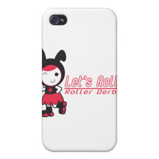 Roller Derby - Let's Roll iPhone 4 Covers