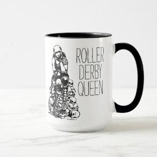 Roller Derby Queen Black Handle Coffee Mug