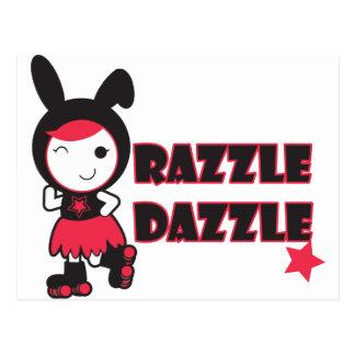Roller Derby - Razzle Dazzle Postcard
