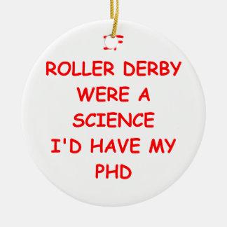 roller derby round ceramic decoration